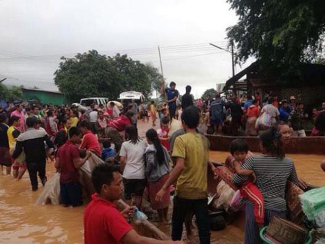 Laos, pukla brana (Foto: twitter.com) -