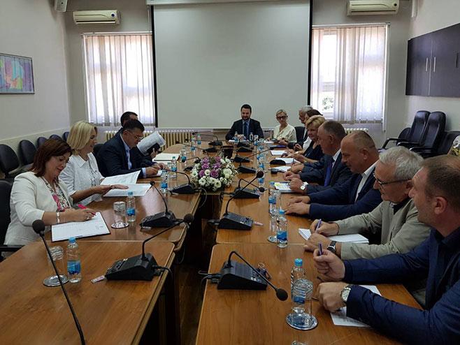 Željka Cvijanović u Prijedoru - Foto: RTRS