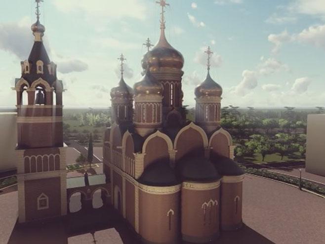 Osveštanje temelja Srpsko-ruskog hrama