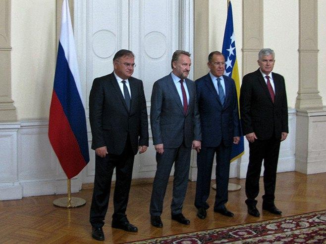 Lavrov se sastao sa članovima Predsjedništva BiH
