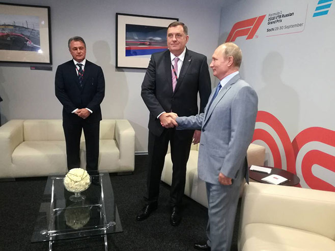 Milorad Dodik i Vladimir Putin - Foto: RTRS