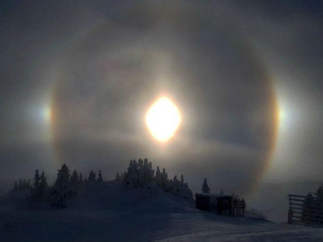 Optički fenomen na Јahorini (Foto: Miodrag Blagojević) -