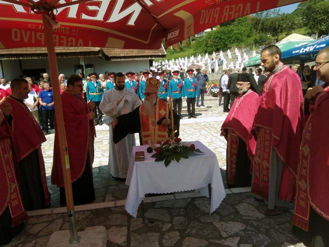 Parastos za ubijene Srbe iz srednjeg Podrinja, Bratunac - Foto: SRNA