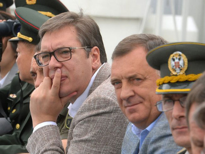 Vučić i Dodik (foto: studiob.rs) -
