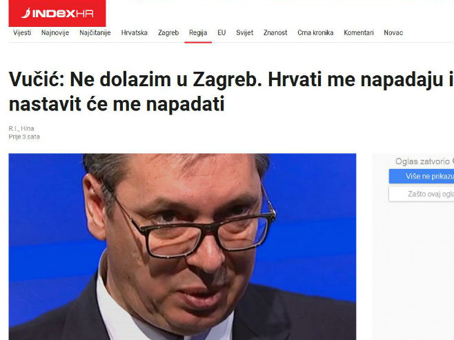 Indeks o Vučiću - Foto: Screenshot