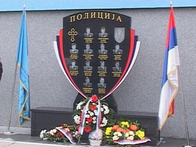 Spomenik palim pripadnicima MUP-a - Foto: RTRS