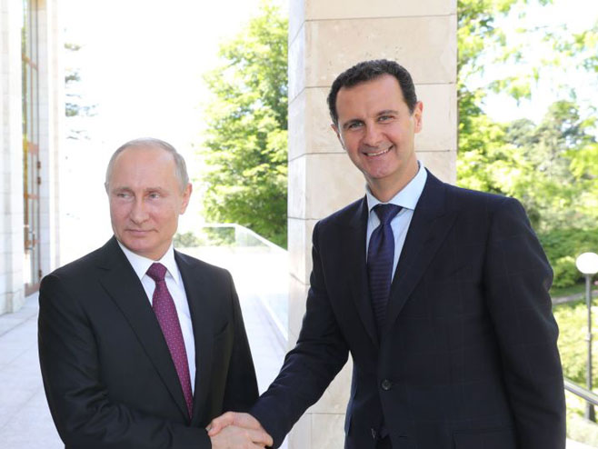 Putin i Bašar El Asad (foto:Sputnik/Mihail Klimentьe) -