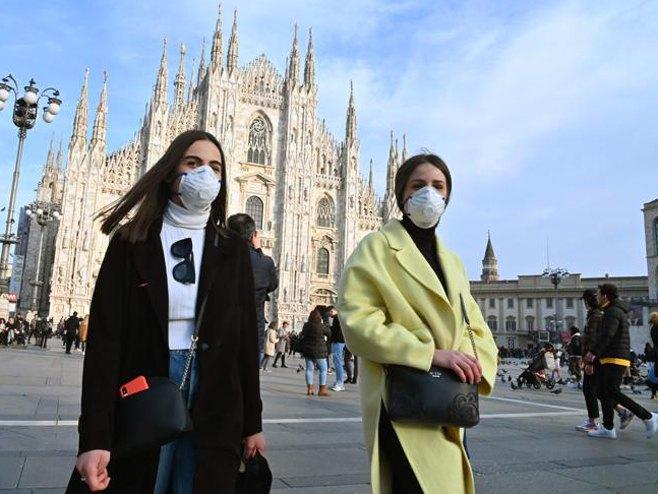Italija - Virus korona - Foto: AFP