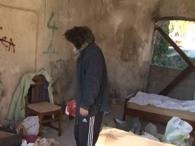 Beskućnik - Foto: RTRS
