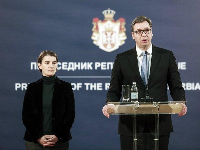 Ana Brnabić i Aleksandar Vučić (Foto: MONDO/GORAN SIVAČKI) -