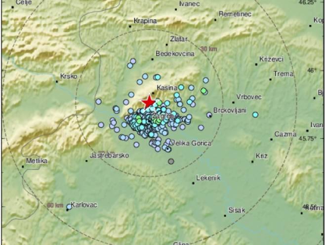 Zemljotres u Zagrebu (foto:emsc-csem.org) -