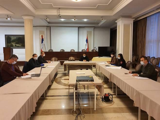 Sastanak Tima za praćenje sprovođenja mjera Republičkog štaba - Foto: SRNA