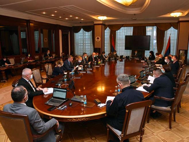 Sjednica Republičkog štaba za vanredne situacije (Foto: facebook.com / VladaRepublikeSrpske) -