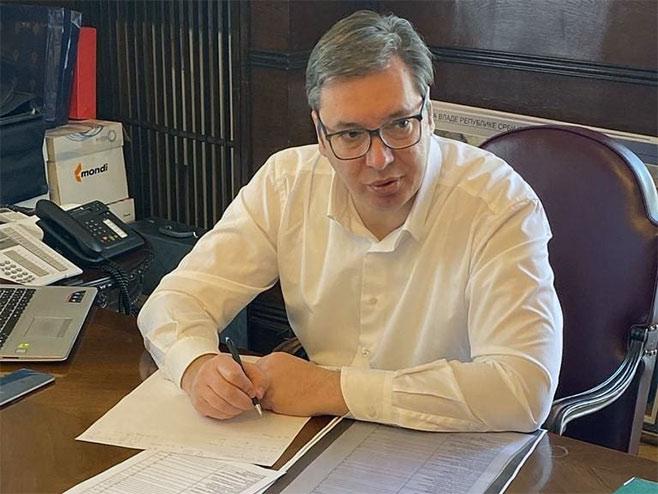 Aleksandar Vučić (Foto: instagram/buducnostsrbijeav) -