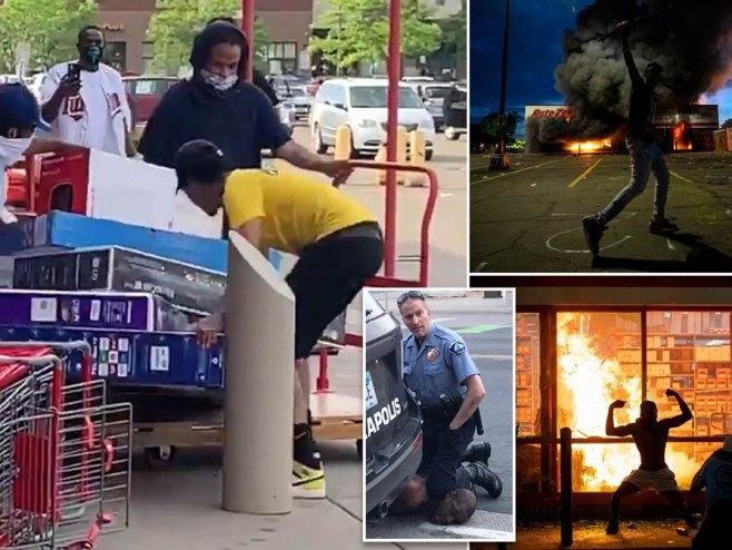 Mineapolis-brutalno hapšenje tamnoputog muškarca (foto:dailymail.co.uk) -