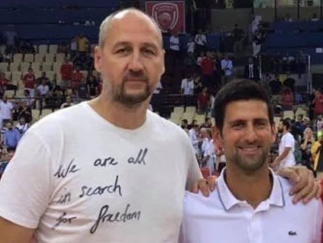 Rađa i Đoković (foto: Facebook / Dino Rađa official) -