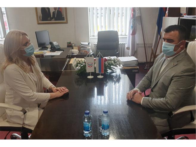 Predsjednica Cvijanović posjetila Vladenicu - Foto: RTRS
