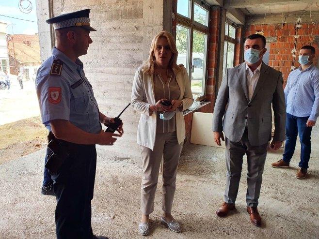 Vlasenica - Cvijanović i Kraljević posjetili gradilište novog objekta Policijske stanice - Foto: SRNA