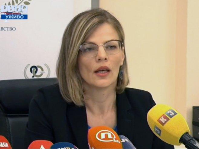 Jela Aćimović, pres Instituta za javno zdravstvo Republike Srpske - Foto: RTRS