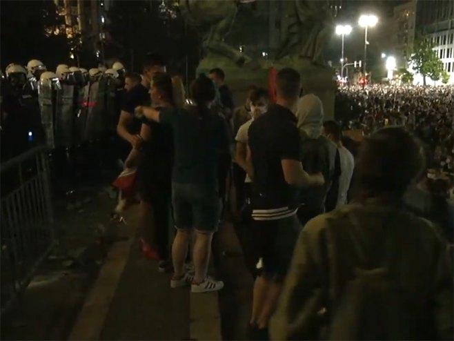Beograd: protesti - Foto: Screenshot