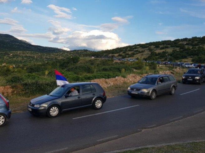 Auto-litija, Crna Gora (Foto: Sputnjik) -