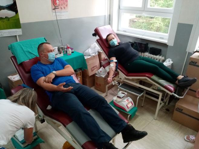Zvornik - dobrovoljni davaoci krvi - Foto: SRNA