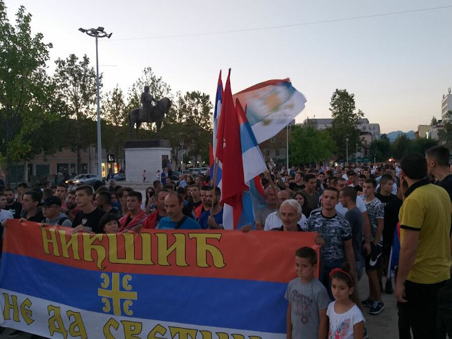 Protest građana u Nikšiću (Foto:Svetlana Mandić) -
