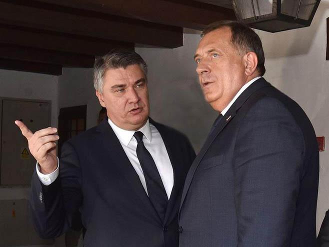 Milorad Dodik, Zoran Milanović (foto:Ured predsjednika) -