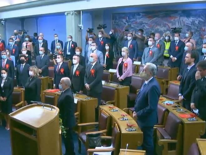 Konstitutivna sjednica Skupštine Crne Gore (foto: Screenshot / TV Vijesti) -
