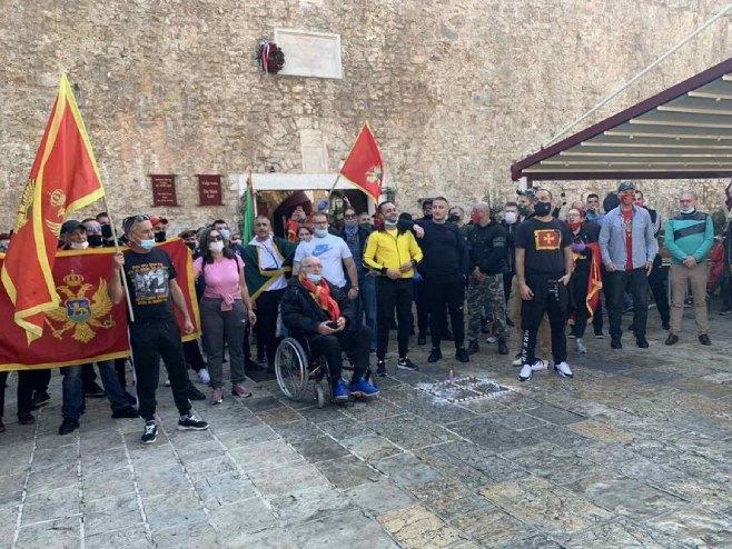 Protest u Budvi (foto:vijesti.me) -
