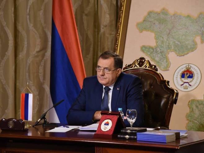 Dodik se obraća Savjetu bezbjednosti (Foto: SNSD) - Foto: Twitter
