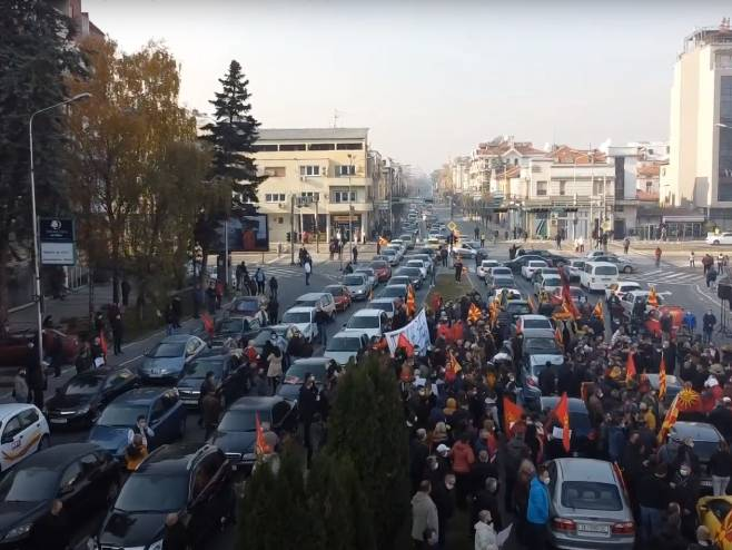 Protest u Skoplju, traže ostavku Zaeva - Foto: Screenshot/YouTube