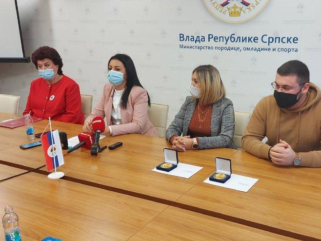 Sonja Davidović, Snježana Kovač, Јovana Popović i Milan Duvnjak - Foto: SRNA
