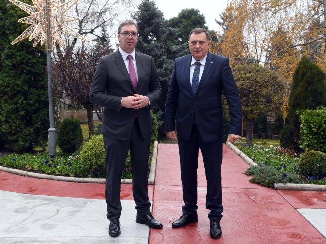 Aleksandar Vučić i Milorad Dodik - Foto: SRNA