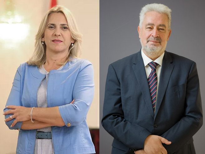Željka Cvijanović i Zdravko Krivokapić - Foto: RTRS