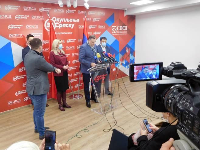 Banjaluka - SNSD - Dodik - pres - Foto: SRNA