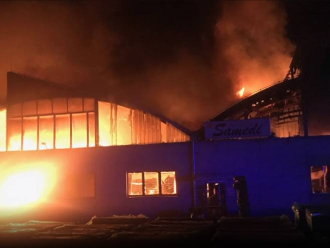 Požar u Valjevu - Foto: RTRS