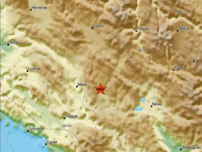 Zemljotres u Crnoj Gori (Foto: EMSC) -