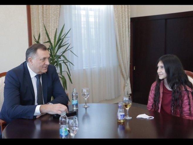 Milorad Dodik i Biljana Čekić -