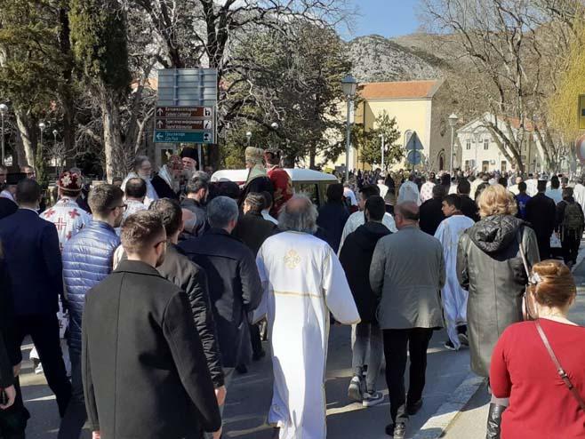 Trebinje - pogrebna povorka - Foto: RTRS