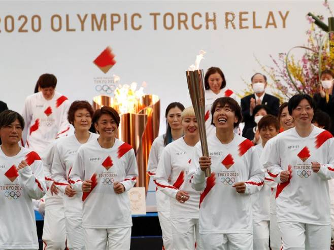 Japan: Ceremonija polaska olimpijske baklje - Foto: AFP