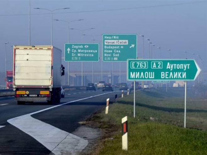 """Auto-put """"Miloš Veliki"""" - Foto: TANJUG"""