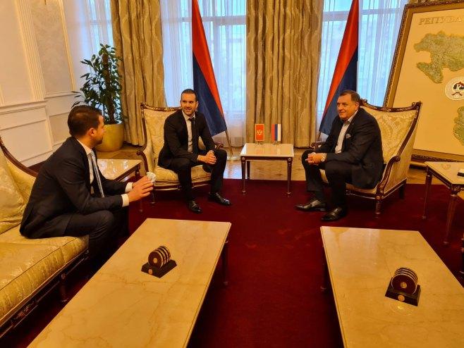 Dodik i Spajić (foto: twitter.com/MickeySpajic) -