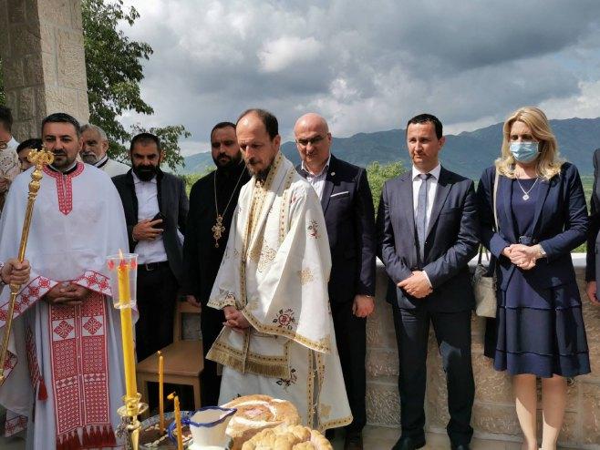 Željka Cvijanović u Mrkonjićima - Foto: RTRS