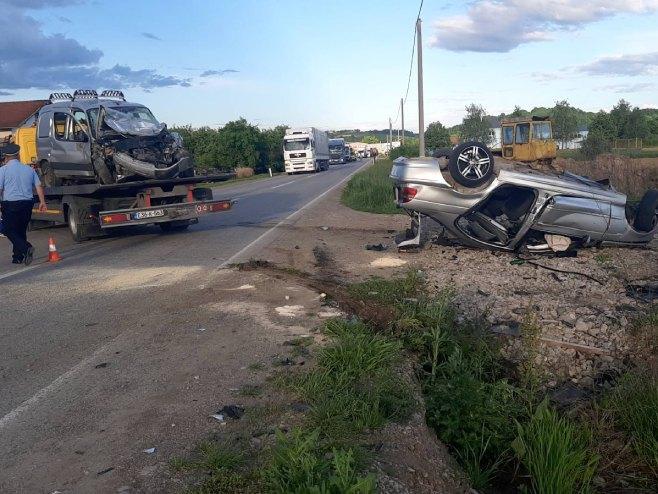 Veliko Blaško - saobraćajna nezgoda - Foto: RTRS