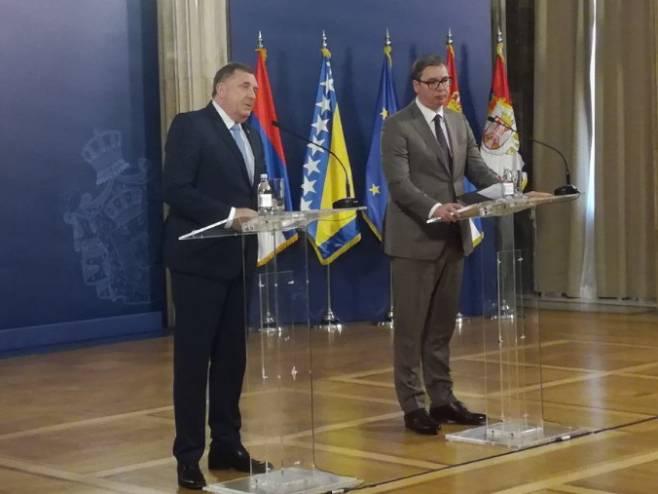 Dodik i Vučić - Foto: RTRS