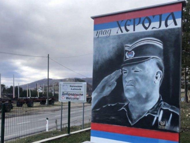 Mural generalu Mladiću - Foto: Glas Srpske